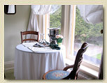 Photo of front window and veranda at Minden hotel